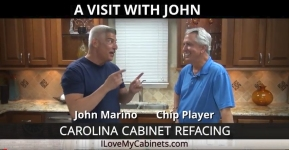 John Marino Of Carolina Cabinet Refacing visits                 with Chip Player