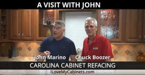 John Marino Of Carolina Cabinet Refacing visits                 with Chuck Boozer